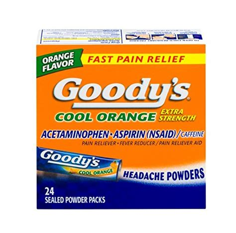 goody s goody s cool orange extra strength analgesic powder 24