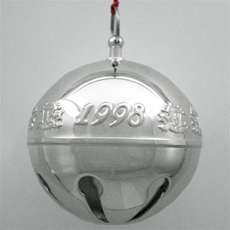 wallace silver bell 2018 1998 wallace sleigh bell silverplate ornament sterling collectables