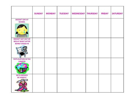 behavior charts template printable for kids activity