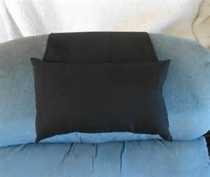 black recliner pillow for leather chairs