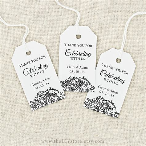 Favor Tag Printable Text Editable Medium Tag Size Wedding Wedding Tags Template