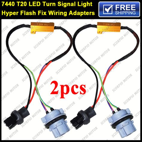 turn signal resistor installation 2pcs 7440 t20 992 7440a 7444 hyper flash fix error free wiring adapters load resistors equalizer