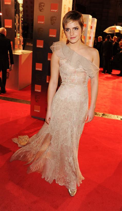 emma watson gown emma watson s valentino couture dress for 2011 bafta