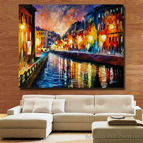 hand painted home decor hand painted canvas oil painting free shipping large