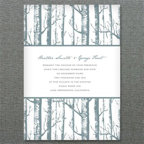 Diy Winter Birch Trees Wedding Invitation Styled 3 Ways Tree Wedding Invitations Templates