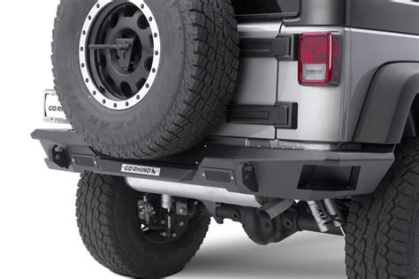 Jeep Bumper End Caps Go Rhino 27120t Rear Bumper With End Caps For 07 17