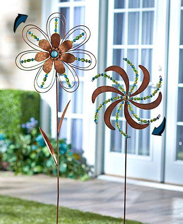 Garden Spinners And Decor Incorporate Outdoor Flower Decorations With Colorful With This Beaded Garden Spinner The