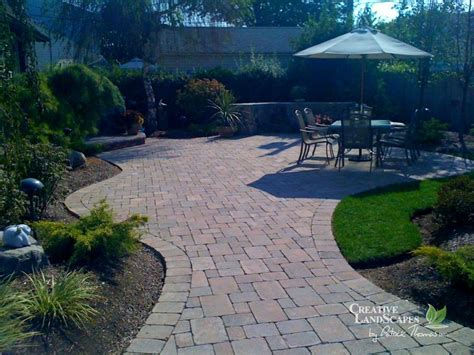 backyard designs with pavers paver patio 171 creative landscapes
