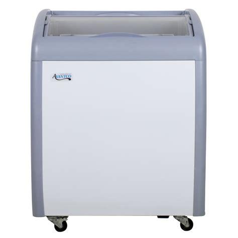 refrigerator freezer display avantco icfc6 curved lid display freezer