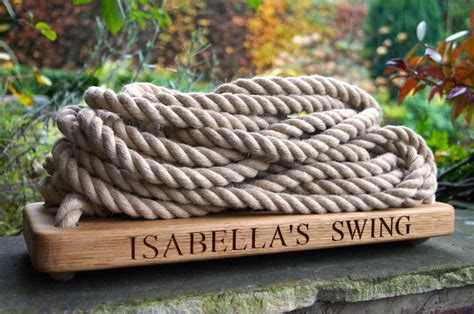 make me swing engraved oak swings with rope makemesomethingspecial com