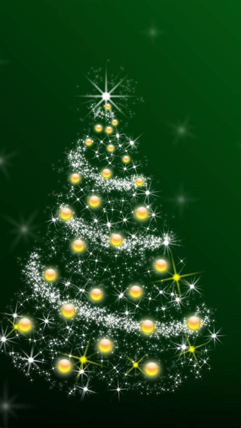 christmas tree illustration wallpaper
