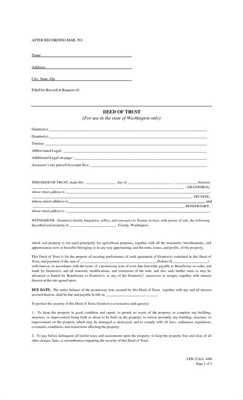 deed of agreement template 7 free contract for deed template timeline template