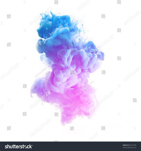 pink blue color pigment cloud on stock photo 89277448