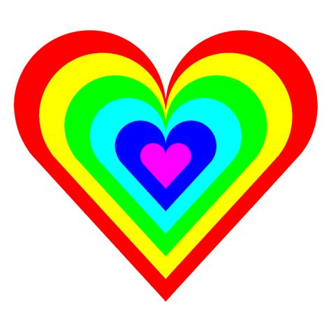 colored hearts pictures of rainbow hearts clipart best
