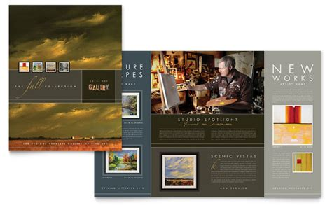 design art brochure art gallery artist brochure template design
