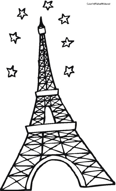 printable coloring page of eiffel tower eiffel tower coloring page 17899 bestofcoloring com