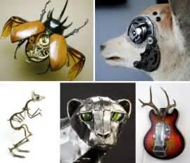 Urban Chandelier Mechanical Animals 36 Steampunk Sculptures Amp Robots