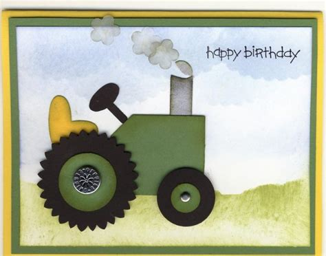 Tractor Birthday Card Tractor Card Must Make For A Friend Cards Tractors