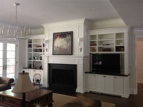 Fireplace Surround Cabinets by Fireplace Mantels Surrounds Traditional Family Room