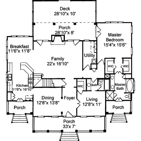 traditional style house plan 3 beds 3 baths 2500 sq ft