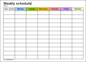 microsoft word weekly calendar template weekly schedule template 9 free documents in