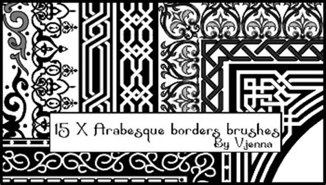 islamic pattern photoshop brushes arabesque borders brushes by visualjenna on deviantart