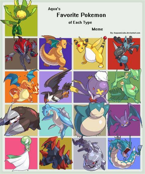 Favorite Pokemon Meme - my favorite pokemon meme by joshaypoo on deviantart