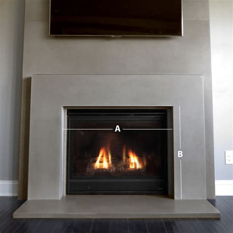 beton feuerstelle plane concrete fireplace surround trueform concrete