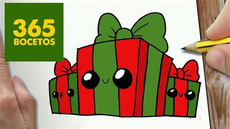 imágenes de navidad kawaii como dibujar regalos navidad kawaii paso a paso dibujos