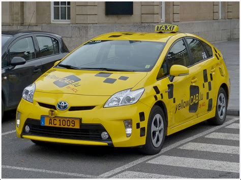 yellow cab toyota prius als yellow cab taxi vom acl unterwegs