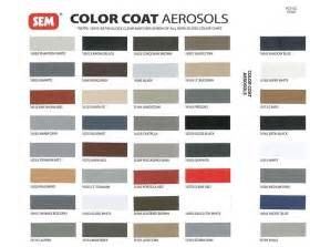 sem color coat chart sem color coat aerosol interior paint