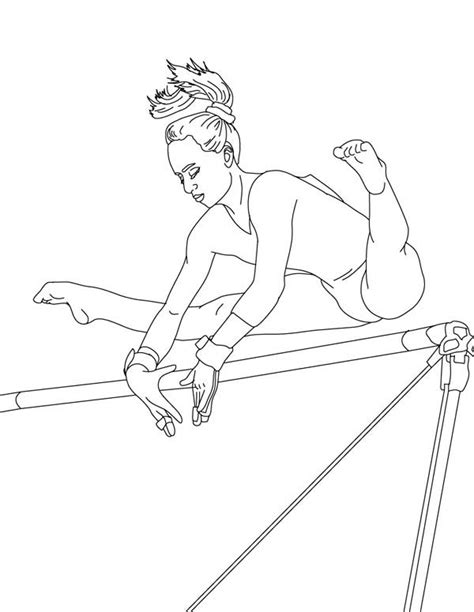 realistic gymnastics coloring pages coloring pages