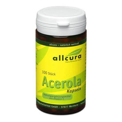 Acerola Scrub allcura acerola 400 mg capsules gelantin free vitamin c