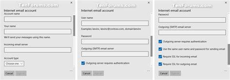windows 10 mail app tutorial add or delete account in windows 10 mail app windows 10