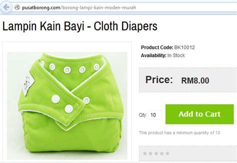 Pasaran Lactogen kisah 1001 macam lin kain bayi cloth diapers borong