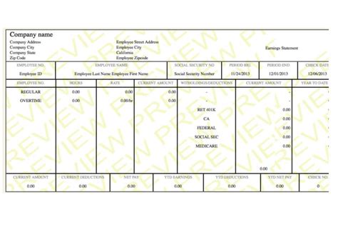 check stub template sle paycheck stubs proof of income autos weblog