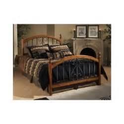 metal and wood bedroom sets four poster bed metal wood headboard footboard bedroom furniture king size ebay