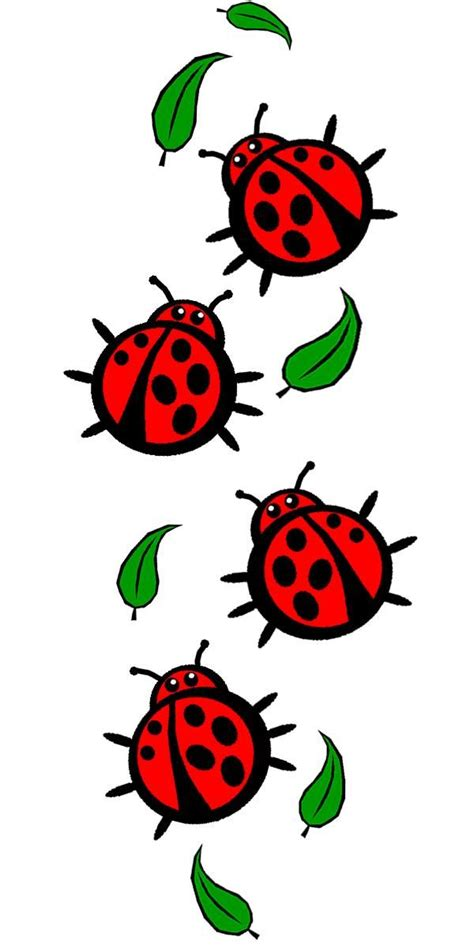 ladybug printable pattern tattoo idea for girls with