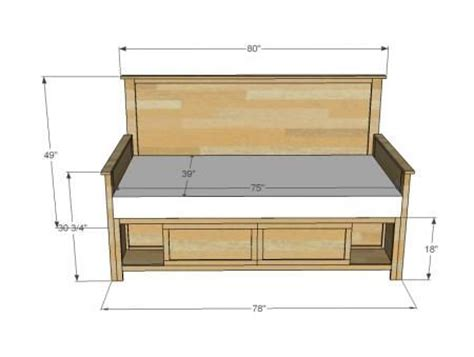 bedroom furniture building plans 1000 ideas about full size storage bed on pinterest