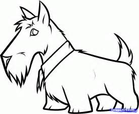 how to draw a scottie scottish terrier step by step