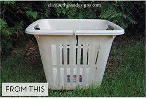 Diy Outdoor Planters by How To Turn An Laundry Basket Into A New Big Planter