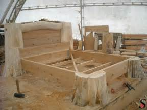 Log Wood Bed Frames Other Log And Timber Projects By Sitka Log Homes Log And