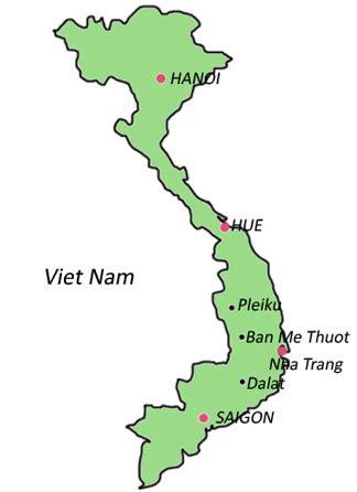 ban  thuot vietnamvietnam map