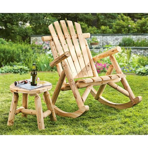 plow and hearth outdoor furniture plow hearth 174 log accent table 218201 patio furniture at sportsman s guide