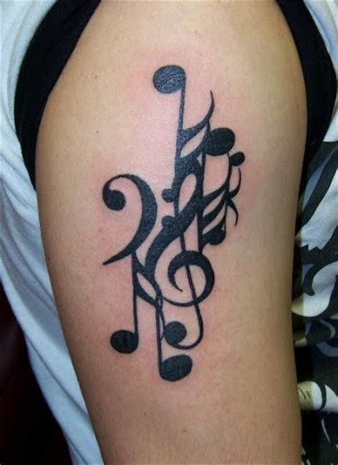 music note tattoo on shoulder 50 cool music tattoo designs and ideas