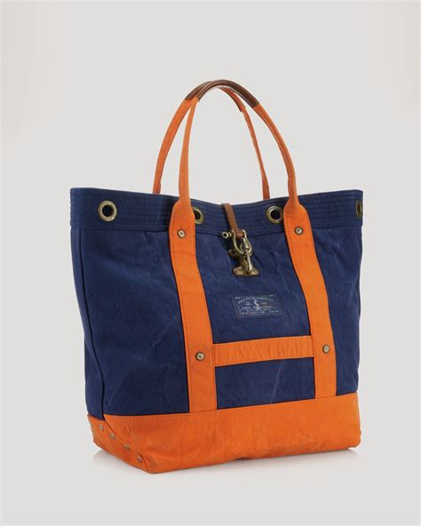 Totebag Polos Orange by Lyst Ralph Polo Naval Surplus Colorblocked Canvas