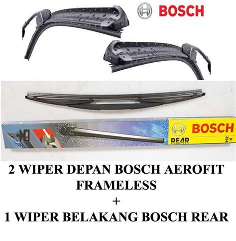 Wiper Bosch Aerotwin Xenia 3pcs Kn Kr Dan Belakang jual harga wiper bosch aerofit jazz ge 3pcs kn kr dan