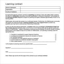 learning contract template 15 download free documents