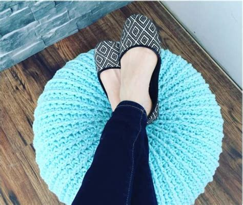 Pouf Ottoman Pattern by Crochet Floor Pouf And Ottoman Free Patterns The Whoot
