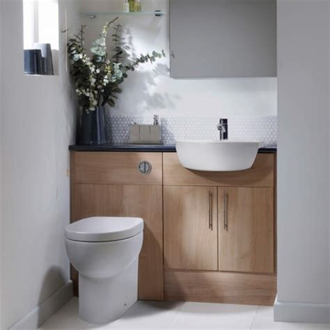 Aruba Light Walnut Fitted Bathroom Furniture Maximise Walnut Bathroom Furniture